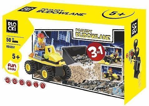 Klocki Blocki Pojazdy Budowlane 3w1 50 el