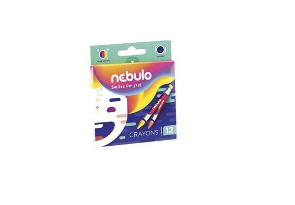 Kredki świecowe okrągłe 12 kolorów NEBULO