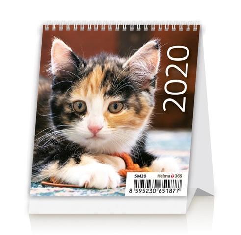 Kalendarz 2020 Biurkowy Mini Kotki NARCISSUS