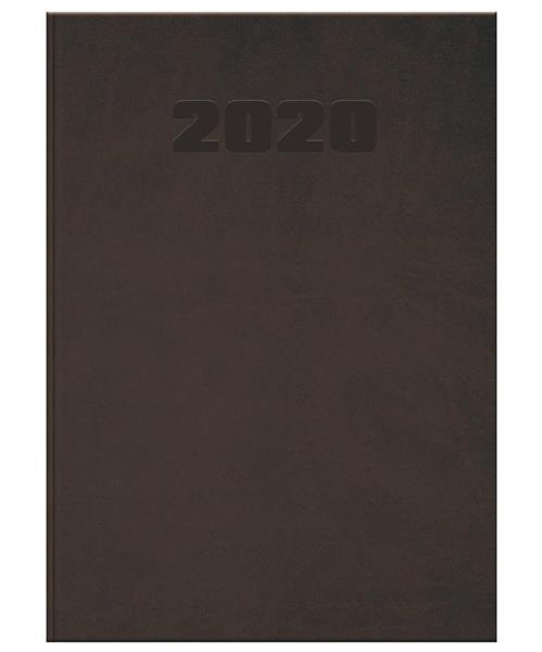 Kalendarz 2020 książkowy A5 Manager brąz OXFORD