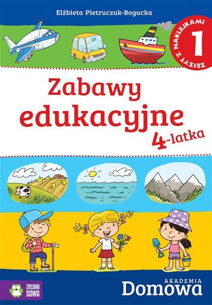 Zabawy edukacyjne 4-latka. Zeszyt z naklejkami 1