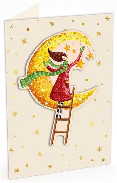 Karnet C6 naklejany + kop. Święta Kob. i księżyc