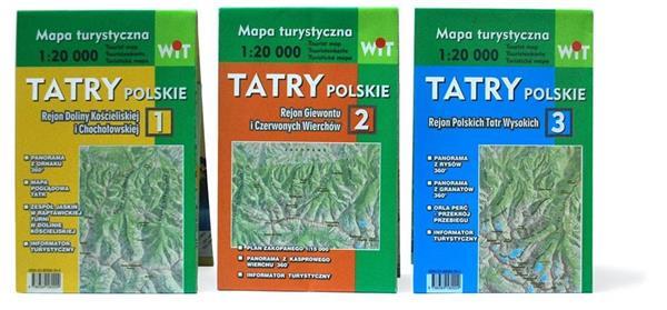 Mapa turystyczna Tatry Polskie 3w1 WIT