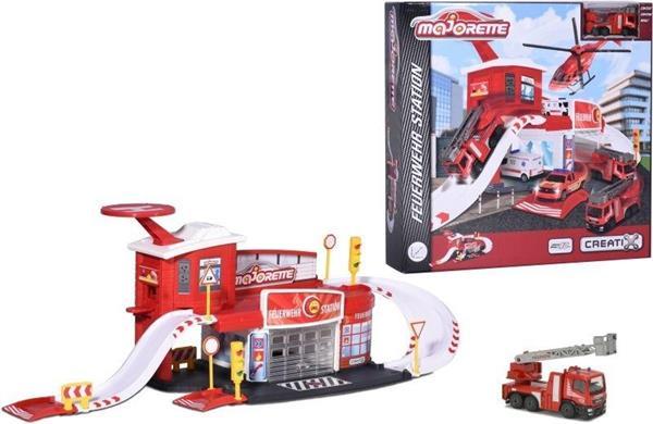 Majorette Creatix Remiza strażacka + 1 auto