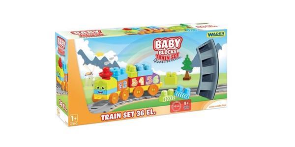 Baby Blocks Kolejka 36 elementów