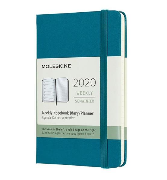 Kalendarz 2020 tygodniowy 12MP tw. Magnetic green