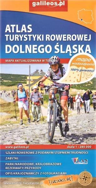 Atlas tur. rowerowej wodoodporny - Dolny Śląsk