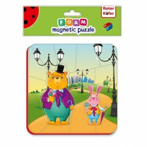 Miękkie magnetyczne puzzle Niedźwiedź i Zając