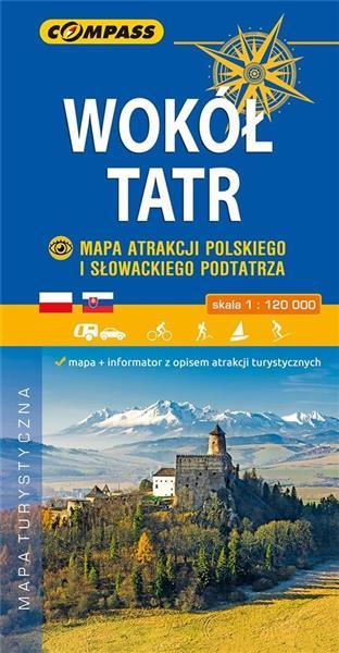 Mapa atrakcji - Wokół Tatr 1:120 000