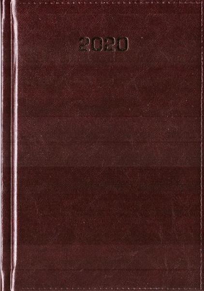 Kalendarz 2020 Dzienny A5 Baladek bordo ANIEW