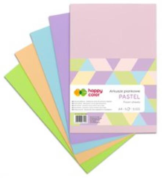 Arkusze piankowe A4/5K Pastel 5 kolor. HAPPY COLOR