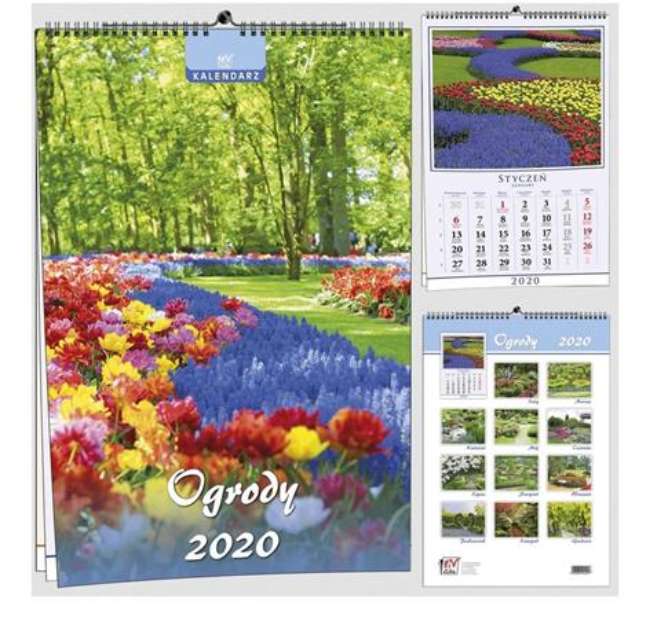 Kalendarz 2020 7 Plansz B3 - Ogrody EV-CORP