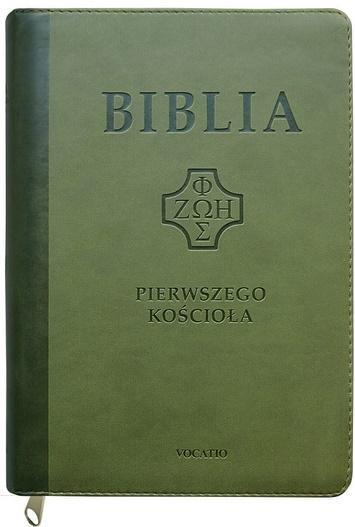 Biblia pierwszego Kościoła z paginat.ciemnozielona