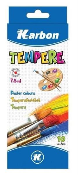 Farby Tempera 10 kolorów KARBON