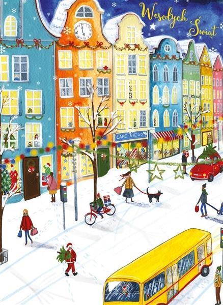 Karnet B6 Boże Narodzenie - Ulica