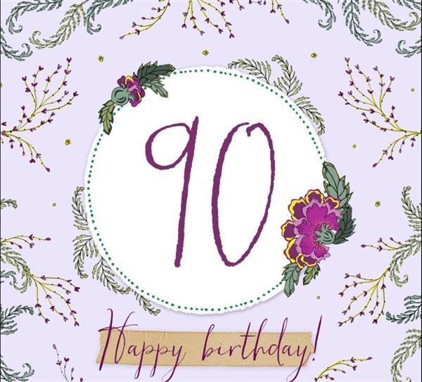 Karnet Swarovski kwadrat CL2290 Urodziny 90