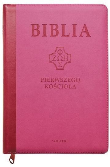 Biblia pierwszego Kościoła z paginat. różowa