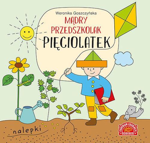 Mądry przedszkolak Pięciolatek Książeczka z nalepk