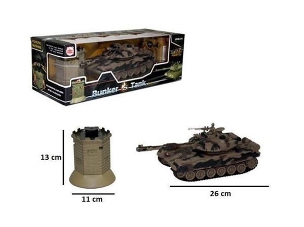 Czołg RC z bunkrem z ładowarką