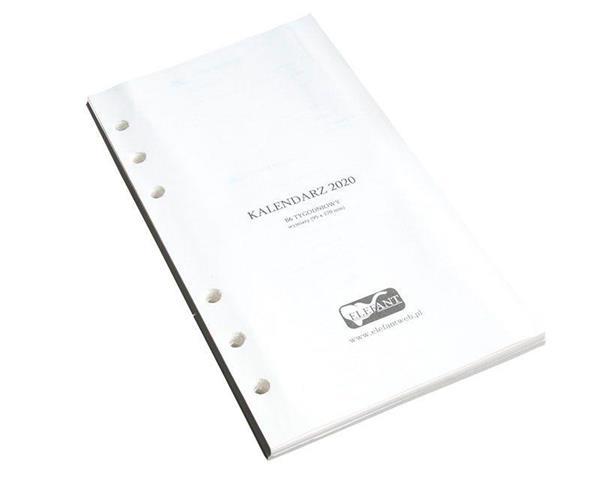 Wkład kalendarzowy B6 2020 tygod. ELEFANT