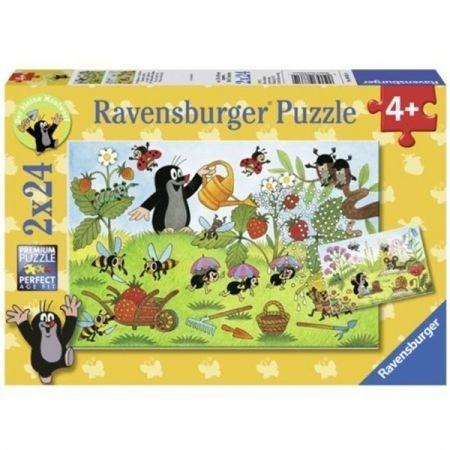 Puzzle 2x24 Krecik w ogrodzie