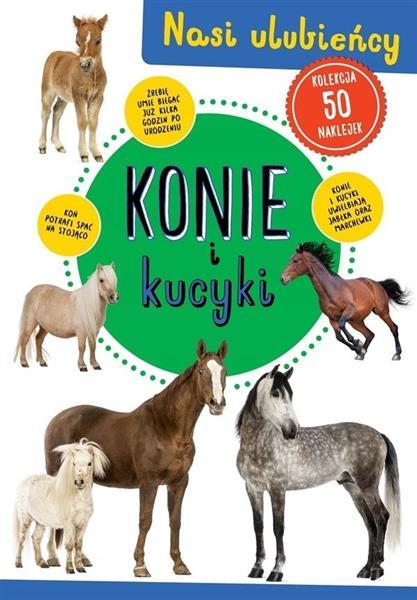 Kolekcja 50 naklejek. Konie i kucyki