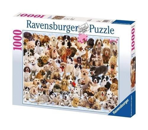 Puzzle 1000 Wielka rodzina psów