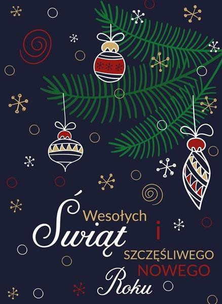 Karnet B6 Boże Narodzenie - Granat (10szt)