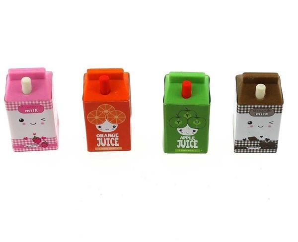 Gumki do mazania - kartoniki z sokiem i mlekiem