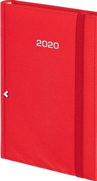 Kalendarz 2020 B6 Dzienny Cross z gumką Czerwony