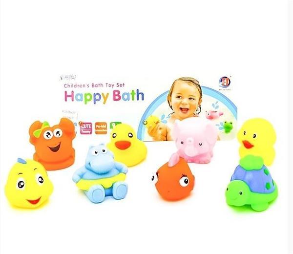 Gumowe zabawki do kąpieli 8szt