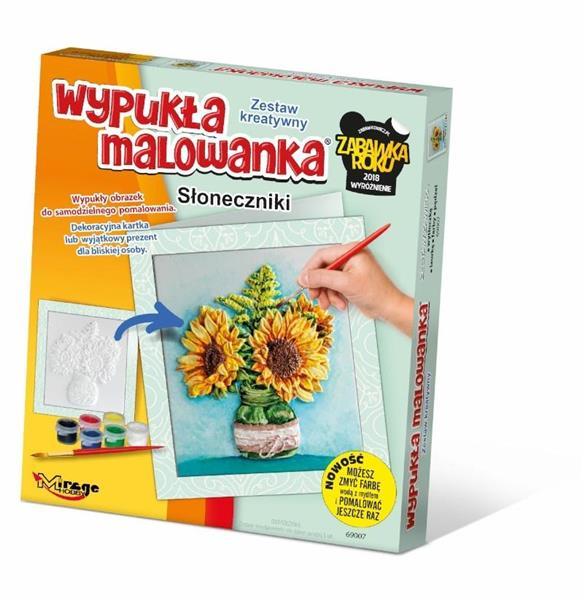 Wypukła Malowanka - Kwiaty Słoneczniki