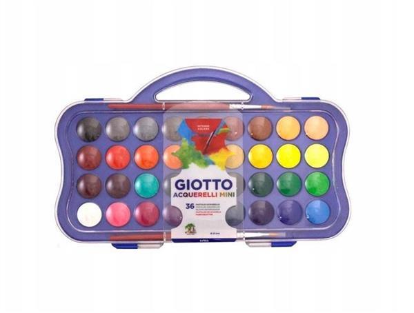 Farby akwarelowe w pastylkach 36 kolorów GIOTTO