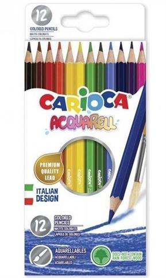 Kredki Acquarell 12 kolorów CARIOCA