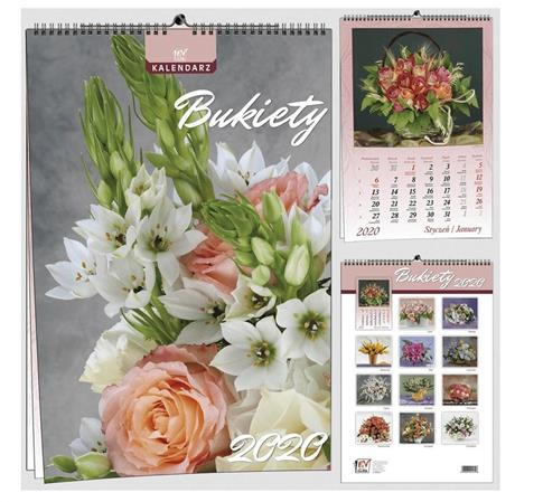 Kalendarz 2020 13 Plansz B3 - Bukiety EV-CORP