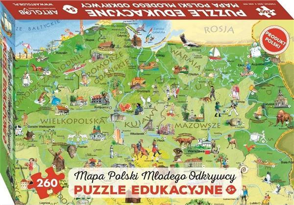 Puzzle 260 - Mapa Polski Młodego Odkrywcy