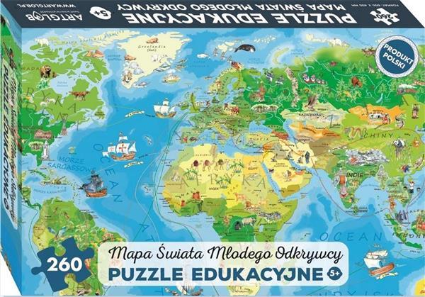 Puzzle 260 - Mapa Świata Młodego Odkrywcy