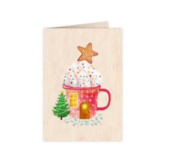 Karnet drewniany C6 + koperta Święta Chata