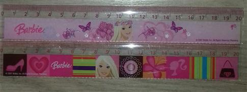 Linijka 20 cm Barbie Mattel OUTLET