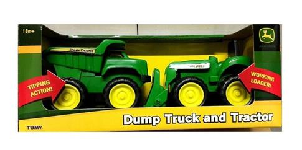 John Deere wywrotka + traktor TOMY