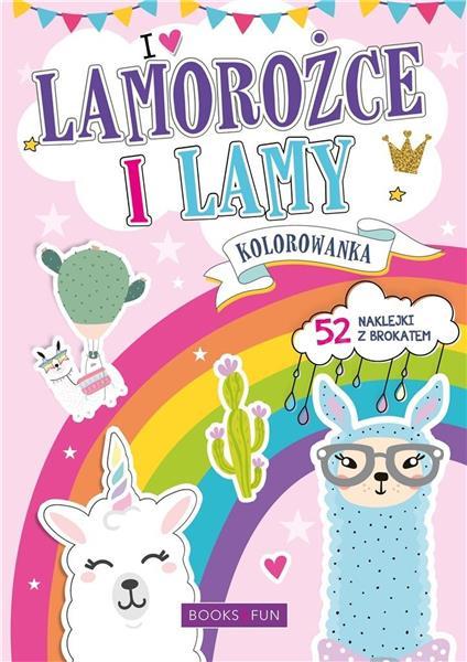 Kolorowanka z naklejkami - Lamorożce i Lamy