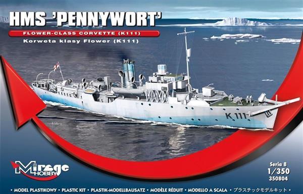 Brytyjska Korweta klasy Flower K111 HMS Pennywort