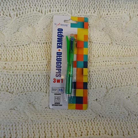 Ołówek + długopis 3 w 1