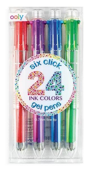 Długopisy żelowe 6w1