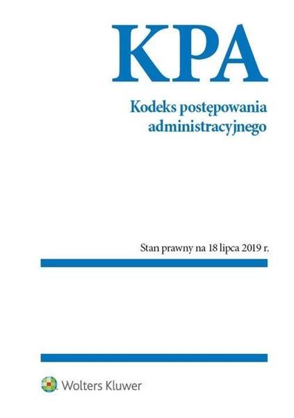 Kodeks postępowania administracyjnego w.2019