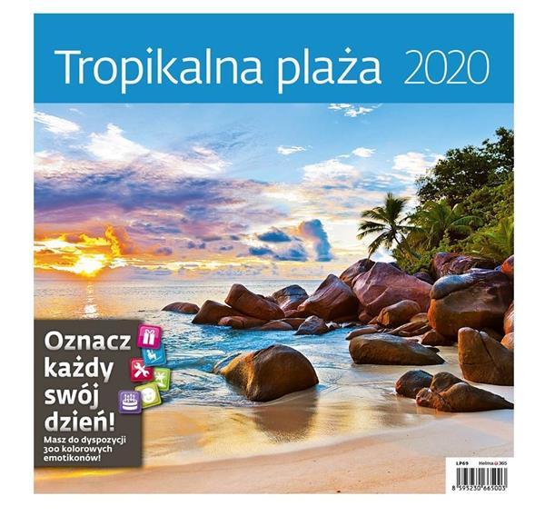 Kalendarz 2020 Tropikalna plaża 30x30cm NARCISSUS