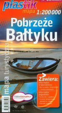 Pobrzeże Bałtyku mapa turystyczna