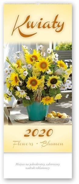 Kalendarz 2020 Czterodzielny Kwiaty TW3