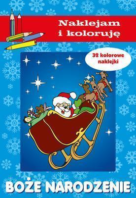 Boże Narodzenie - naklejam i koloruje