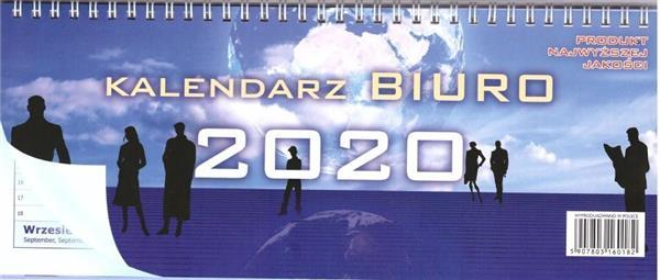 Kalendarz 2020 Biurkowy poziomy dwustronny